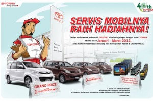 Service Toyota Raih Hadiahnya